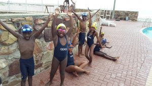 SPUR IRONKIDS celebrating at the pool