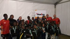 SPUR IRONKIDS celebrating their victory