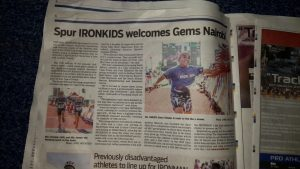 SPUR IRONKIDS makes it into the newspaper