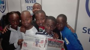 SPUR IRONKIDS showcasing their newspaper article